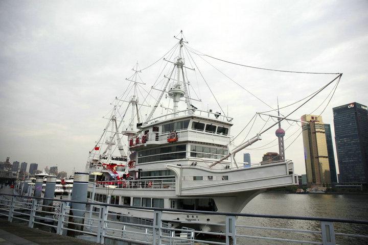 黃浦江游覽豪華四星級下午茶網紅船1.5小時游覽成人票街什,提前預訂